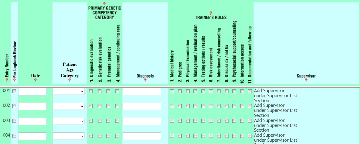 logbook guidelines 2015 certification abmg